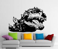 Decoration Kids Wall Decals Home by Godzilla Sticker Monster Wall Vinyl Decal Home Kids Room