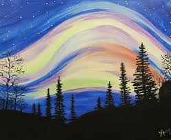 how to paint northern lights lights at main street pub gull road