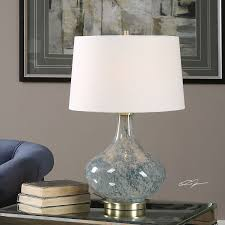 Uttermost Lamps On Sale Celinda Blue Gray One Light Table Lamp Uttermost Accent Lamp Table
