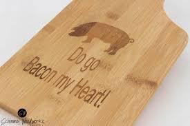 funny cutting boards paddle cutting board bacon pun cutting board funny cutting