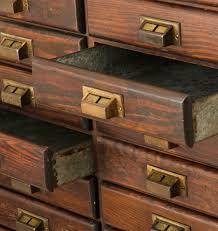 enormous 56 drawer oak flat file cabinet rejuvenation