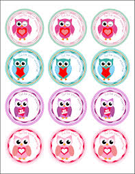 free valentine u0027s day owl label and treat bag topper printables
