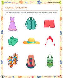 dressed for summer u2013 printable first grade seasons worksheet
