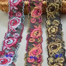 fiber flower lace trim pearl embroidery sewing fabric lace diy