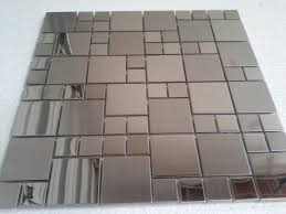 stainless steel tile backsplash and stainless steel kitchen