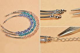 crystal glass bracelet images Making easy crystal multi strand glass beaded bracelet henry jpg