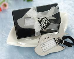 wedding tags for favors airplane luggage tag favor airplane suitcase tag