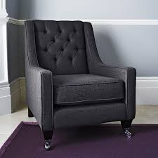 Purple Chair Uk Fitzgerald Occasional Armchair Charcoal Within Home
