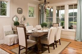 rustic dining room curtain ideas solid color dining room