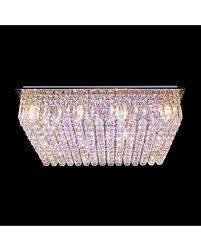 Crystal Flush Mount Ceiling Light Fixture by Wonderful Grace And Sparkle Rectangular Crystal Flush Mount