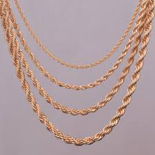 golden rope necklace images Buy gold chain and get free shipping on jpg