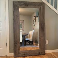 Oak Framed Bathroom Mirror Mirrors Primitive Bathroom Mirrors Reclaimed Wood Mirror