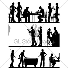 pubga e pub game silhouettes gl stock images