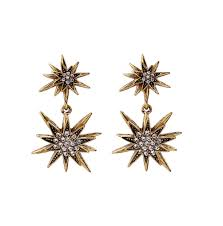 retro crystal star pendant earrings for women glamorize yourself