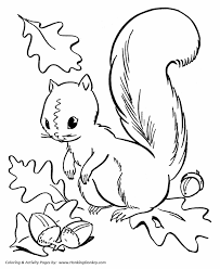 nut coloring page fall coloring pages squirrel collecting acorns coloring page