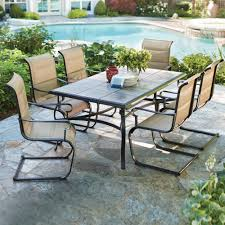 Swivel Patio Dining Chairs 7 Piece Patio Dining Set With Swivel Chairs In Atme