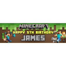 minecraft backdrop minecraft personalized customized birthday banner backdrop for