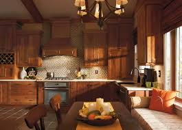 shaker door style kitchen cabinets rustic hickory in this homecrest kitchen brings a homey feeling