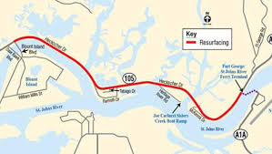 Map Of Jacksonville Florida by Portion Of Heckscher Drive Undergoes Repaving Project Soon