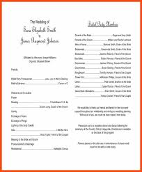 wedding programs templates sle wedding programs program format