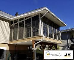 Sunroom On A Deck Sunroom Construction In Danville Pa J U0026k Simeone Enterprises Llc