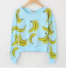 banana sweater womens sweater blue harajuku top banana sweater on luulla