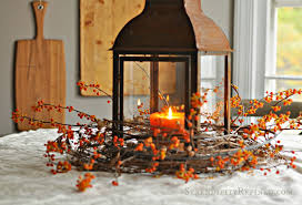 Fall Table Centerpieces by Serendipity Refined Blog Rusty Lantern And Bittersweet Simple