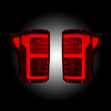 2016 f150 led tail lights recon red smoke fiber optic led tail lights 2015 2017 ford f 150