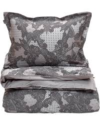 Gray Paisley Duvet Cover Amazing Deal On Gant Libby Paisley Duvet Cover Gray Double