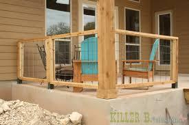 modern porch railing a how to kinda killer b designs