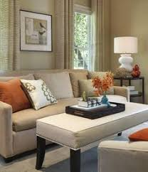 Living Room Neutral Sofa With Some Color On Chairs Add Pops Of - Adding color to neutral living room