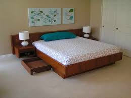 Making A Wood Platform Bed by Bedroom Floating Platform Beds With Pillow Blue The Simplicity And
