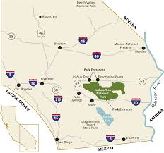 Map Of Arizona And California by Directions U0026 Transportation Joshua Tree National Park U S