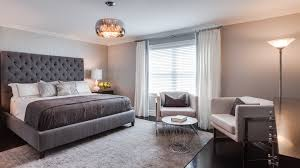 grey upholstered headboard bedroom transitional with bedroom