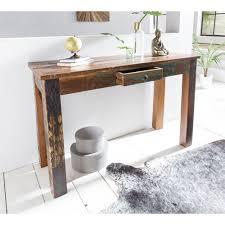 Schreibtisch 50 Tief Konsolentisch 120 X 50 X 84cm Cm Delhi Recycling Holz S