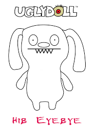 ugly doll coloring pages learn coloring