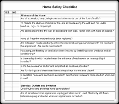 5 printable home safety checklist and worksheets word excel pdf