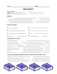 third grade book report template best photos of simple book report template chapter book report