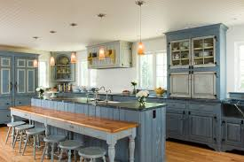 Swedish Inspired Traditional Kitchen Philadelphia By - Blue kitchen cabinets