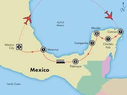 aztec map of mexico discovery 11 day mexico s mayan aztec illumination tour with