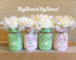 Ball Jar Centerpieces by Pink And Rose Gold Gold Mason Jar Centerpieces Baby Shower