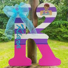 Personalized Doc Mcstuffins Letter for Bedroom Wall Decor