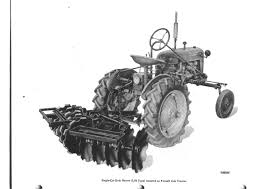 restored oliver disc harrow farmall cub