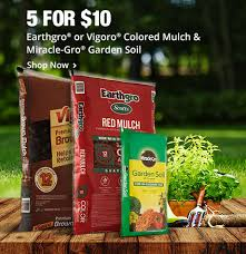home depot sping black friday 2 bags of earthgro colored mulch or miraclegro garden soil