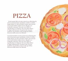 id d o cuisine watercolor pizza stock vector illustration of image 78207883