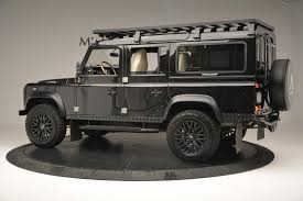 land rover defender matte black 1985 land rover defender 110 stock 7008c for sale near greenwich