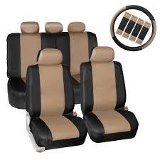 lexus visa pu synthetic leather seat covers car suv auto w steering wheel belt