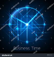 Futuristic Clock by Business Time Abstract Clock Background Conceptual Stock Vector
