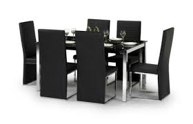 Black Glass Extending Dining Table 6 Chairs Brilliant Dining Table And 6 Chairs Furniture Ebay Of
