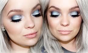 icy blue smokey eyes makeup tutorial brianna fox youtube